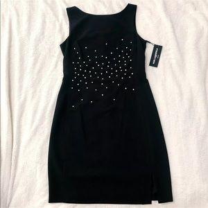 New karl lagerfeld black dress with pearls
